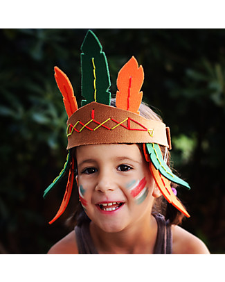 aPunt Barcelona Kit Cucito Indiano - Crea il tuo copricapo di penne! Kit Fai Da Te