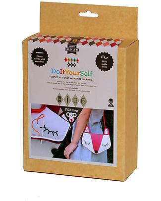 aPunt Barcelona Kit Cucito La Tua Borsa, Volpe - Crea e decora la tua borsa! Kit Fai Da Te
