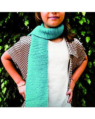 aPunt Barcelona Kit Maglia Sciarpa, Azzurro - Crea la tua sciarpa! Kit Fai Da Te