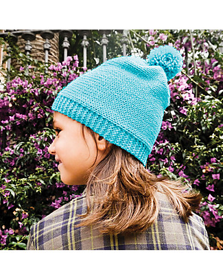 aPunt Barcelona Knitting Kit Hat, Blue - Create your own winter hat Art & Craft Kits