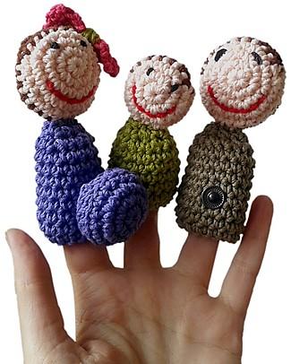 aPunt Barcelona Marionette Famiglia da Dito - Diverte e Spiega l'allargamento della Famiglia! Scienza e Natura