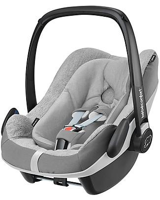 Bébé Confort Fodera Estiva per Seggiolino Auto Pebble Plus, Grigio - Tiene al Fresco il tuo Bambino! Seggiolini Auto