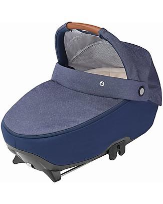 Bébé Confort Navicella Jade, Nomad Blue - Fino a 6 mesi, Omologata R129 con sistema Isofix! Carrozzine e Navicelle