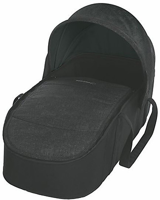 Bébé Confort Navicella Morbida Laika per Passeggini, Nomad Black - Fino a 6 mesi,  Super Leggero! Carrozzine e Navicelle