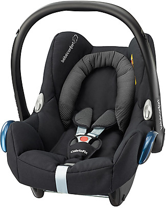 Bébé Confort Seggiolino Auto 0+ Cabrio Fix, Nero – Per Quinny, Baby Jogger, Bugaboo e altri Seggiolini Auto