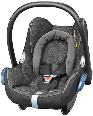 Bébé Confort Seggiolino Auto 0+ Cabrio Fix, Triangle Black - Per Quinny, Baby Jogger, Bugaboo e altri Seggiolini Auto