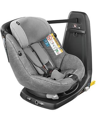 Bébé Confort Seggiolino Auto AxissFix Gruppo 1, Nomad Grey - Da 4 mesi a 4 anni, Rotazione a 360° Seggiolini Auto Bimbi Piccoli
