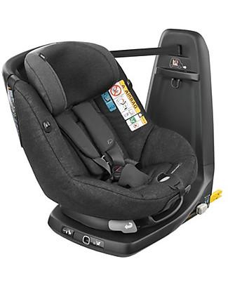 Bébé Confort Seggiolino Auto AxissFix, Nomad Black - Da 4 mesi a 4 anni, Rotazione a 360° Seggiolini Auto