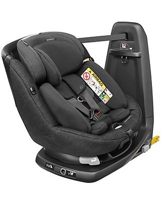 Bébé Confort Seggiolino Auto AxissFix Plus Gruppo 1, Nomad Black - Dalla Nascita a 4 anni, Rotazione a 360° Seggiolini Auto Bimbi Piccoli