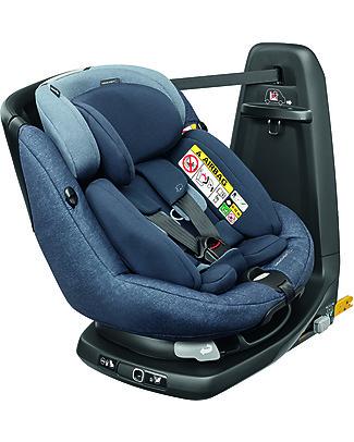 Bébé Confort Seggiolino Auto AxissFix Plus, Nomad Blue - Dalla Nascita a 4 anni, Rotazione a 360° Seggiolini Auto
