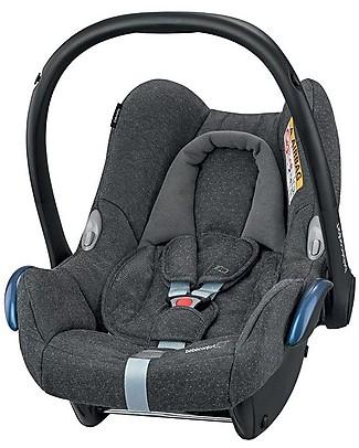 Bébé Confort Seggiolino Auto CabrioFix 0+ i-Size, Sparkling Grey - Da 0 a 12 Mesi, Leggero e Sicuro Seggiolini Auto per Neonati