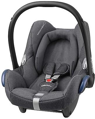 Bébé Confort Seggiolino Auto CabrioFix, Sparkling Grey - Da 0 a 12 Mesi, Leggero e Sicuro Seggiolini Auto