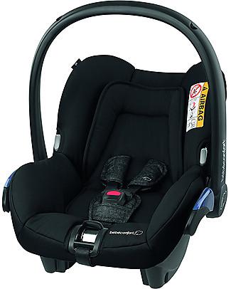 Bébé Confort Seggiolino Auto Citi  0+ e i-Size, Nomad Black - Da 0 a 12 mesi, Omologato per Trasporto Aereo Seggiolini Auto per Neonati