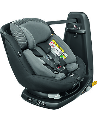 Bébé Confort Seggiolino Auto Girevole AxissFix Plus, Black Raven – Dalla Nascita fino a 4 anni Seggiolini Auto