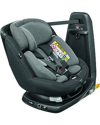 Bébé Confort Seggiolino Auto Girevole AxissFix Plus, Black Raven - Dalla Nascita fino a 4 anni Seggiolini Auto