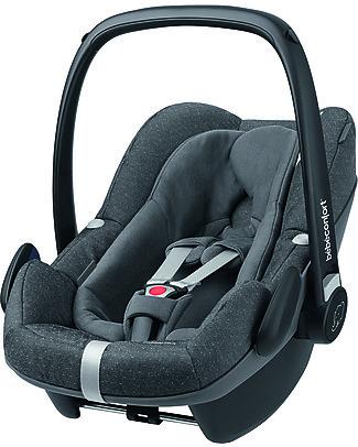 Bébé Confort Seggiolino Auto Pebble Plus 0+ e i-Size, Sparkling Grey - Da 0 a 12 mesi, Omologato i-Size R129 Seggiolini Auto per Neonati