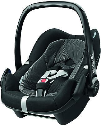 Bébé Confort Seggiolino Auto Pebble Plus, Black Raven – Da 0 a 12 mesi! Seggiolini Auto