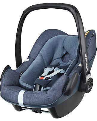 Bébé Confort Seggiolino Auto Pebble Plus, Nomad Blue - Da 0 a 12 mesi, Omologato i-Size R129 Seggiolini Auto