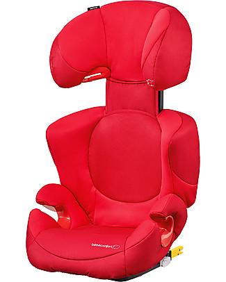 Bébé Confort Seggiolino Auto Rodi Xp Fix, Poppy Red - Da 3,5 a 12 anni, Massima Protezione Seggiolini Auto