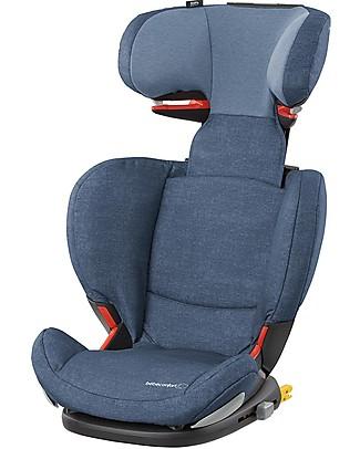 Bébé Confort Seggiolino Auto RodiFix Airprotect, Gruppi 2-3, Nomad Blue - Da 3,5 a 12 anni! Seggiolini Auto