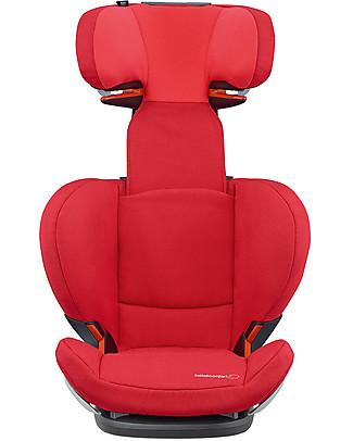 Bébé Confort Seggiolino Auto RodiFix Airprotect, Gruppi 2-3, Vivid Red - Da 3,5 a 12 anni! Seggiolini Auto
