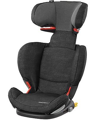 Bébé Confort Seggiolino Auto RodiFix Airprotect Gruppo 2/3, Nomad Black - Da 3,5 a 12 anni, Side Protection System Seggiolini Auto Bimbi Grandi