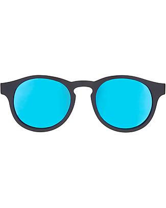 Babiators Occhiali da Sole The Agent, Blue Collection, Montatura Nero/Lenti Blu - Lenti Polarizzate, 100% Protezione UV Occhiali