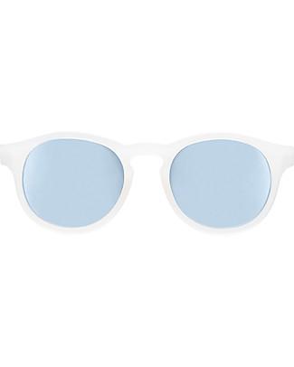 Babiators Occhiali da Sole The Jet Setter, Blue Collection, Montatura Bianco trasparente/Lenti Celeste - Lenti Polarizzate, 100% Protezione UV Occhiali