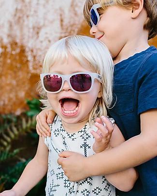 Babiators Occhiali da Sole The Trendsetter, Blue Collection, Montatura Trasparente/Lenti Viola - Lenti Polarizzate, 100% Protezione UV - GARANZIA 1 ANNO Lost&Found Occhiali