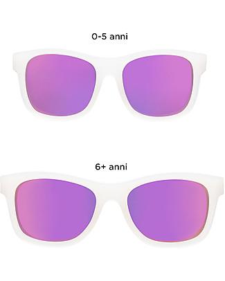 Babiators Occhiali da Sole The Trendsetter, Blue Collection, Montatura Trasparente/Lenti Viola - Lenti Polarizzate, 100% Protezione UV Occhiali
