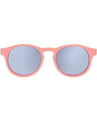 Babiators Occhiali da Sole The Weekender, Blue Collection, Montatura Melone/Lenti Argento - Lenti Polarizzate, 100% Protezione UV Occhiali