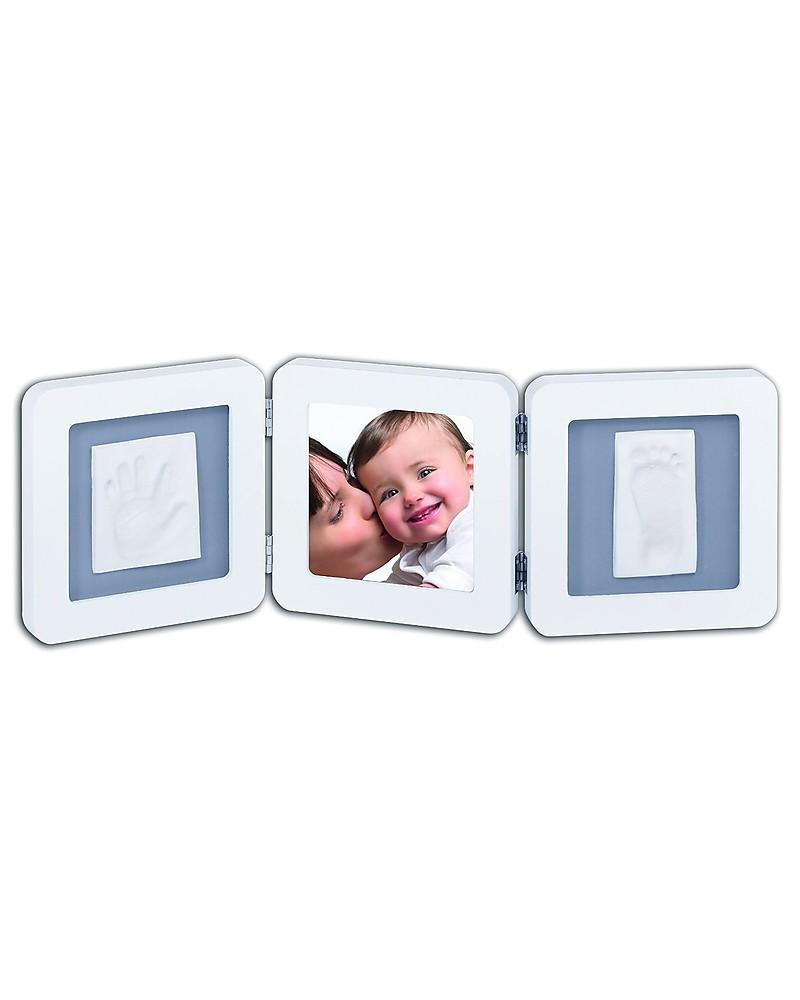 Baby Art Baby Art Cornice Impronta Doppia - Bianco e Grigio unisex