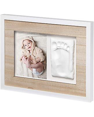 Baby Art Baby Art Cornice Impronta Singola Tiny Style - Bianco e Legno Decorazioni
