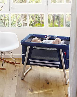 Baby Home Culla Air Bianco – Leggerissima, trasportabile e anche dondolo e ruote Culle e Ceste