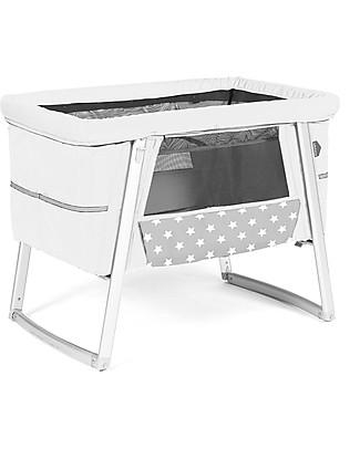 Baby Home Culla Air Bianco – Leggerissima, trasportabile e anche dondolo e ruote null