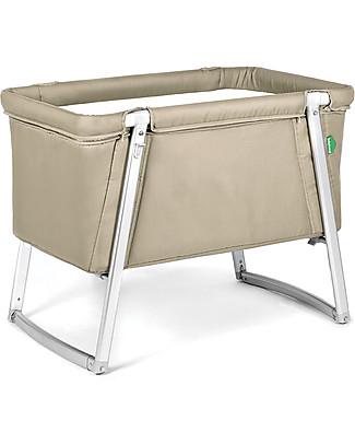 Baby Home Culla Dream – Sabbia – Leggerissima, trasportabile e anche dondolo e ruote Culle e Ceste