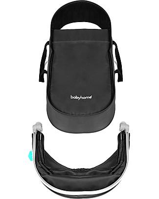Baby Home Kit Carrozzina per Passeggino Baby Home Vida, Nero/Argento – Per usare il passeggino fin dalla nascita! Carrozzine e Navicelle
