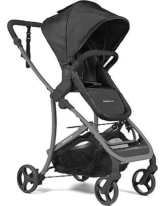 Baby Home Passeggino con Carrozzina Vida Plus, Black to Black - Dalla nascita a 15 kg! Carrozzine e Navicelle