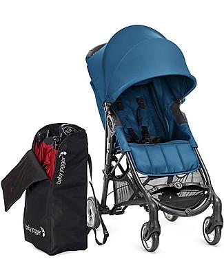 Baby Jogger Passeggino City Mini™ Zip - Blu Mare + Borsa Porta Passeggino - Compatto, leggero, si chiude con una mano! Passeggini Leggeri