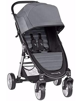 Baby Jogger Passeggino City Mini 2, Grigio Chiaro - 4 Ruote e Poco Ingombro! Passeggini Leggeri