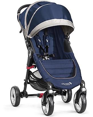 Baby Jogger Passeggino City Mini 4 - Cobalto - Leggero e compatto - Si chiude con una mano Passeggini