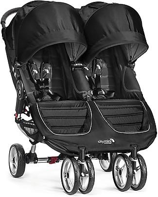 Baby Jogger Passeggino City Mini Double - Nero/Grigio - Leggero e compatto - Si chiude con una mano! Passeggini Doppi