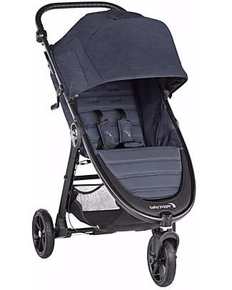 Baby Jogger Passeggino City Mini GT2, Carbon - 3 Ruote, Maneggevole in Ogni Terreno! Sistemi Combinabili per Trio