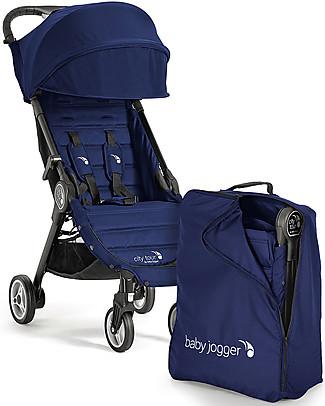 Baby Jogger Passeggino City Tour, Cobalto – Leggero e compatto. Va in aereo come bagaglio a mano! Passeggini