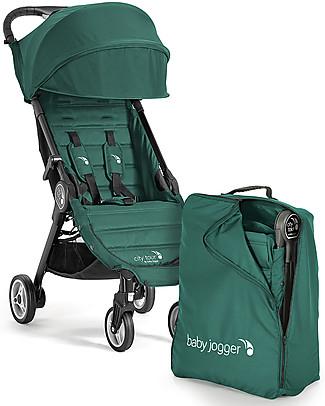 Baby Jogger Passeggino City Tour, Ginepro – Leggero e compatto. Va in aereo come bagaglio a mano! Passeggini
