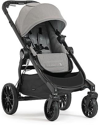 Baby Jogger Passeggino Convertibile Mono/Duo/Triplo City Select Lux - Grigio chiaro Passeggini