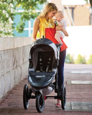 Baby Jogger Passeggino da Jogging Summit X3 - Nero/Grigio - Perfetto per gli sportivi! Si chiude con una mano Passeggini