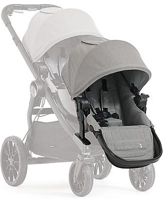 Baby Jogger Seconda Seduta per Passeggino Convertibile Mono/Duo/Triplo City Select Lux - Grigio Chiaro Passeggini Doppi