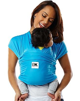 Baby K'tan Fascia Portabebè Ergonomica 5 in 1 Active, Blu Oceano - Si indossa come una t-shirt! Marsupi