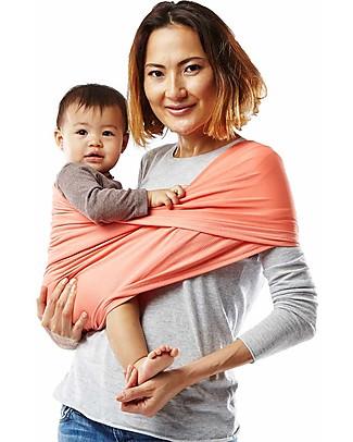 Baby K'tan Fascia Portabebè Ergonomica 5 in 1 Active, Corallo - Si indossa come una t-shirt! Fasce Portabebé